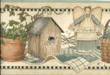 Countryside Easy Walls Border Angels & Ivy CTR65423B By Chesapeake For Brewster Fine Decor